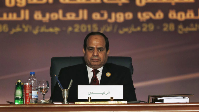 Egyptian President Abdel Fattah al-Sisi attends the opening meeting of the Arab Summit in Sharm el-Sheikh, in the South Sinai governorate, south of Cairo, March 28, 2015. (Reuters / Amr Abdallah Dalsh )