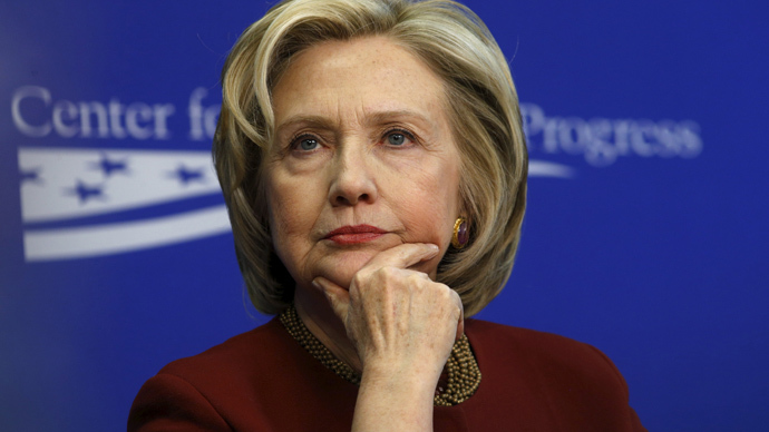 Former U.S. Secretary of State Hillary Clinton. (Reuters / Kevin Lamarque)