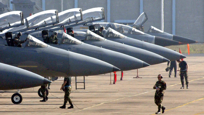 US National Guard sends 12 F-15 interceptor jets to Europe to guard against Russia