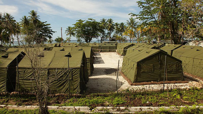 Department of Immigration photograph of the Manus Island centre (Image from Wikipedia)