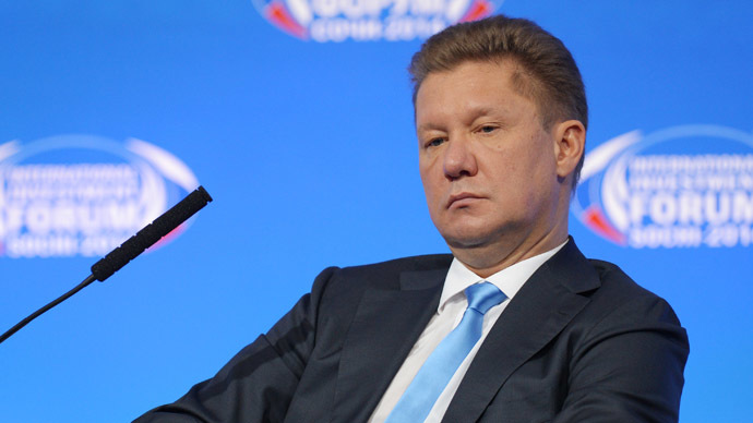 Chairman of the Board of Russian energy company Gazprom Alexey Miller. (RIA Novosti/Mihail Mokrushin)