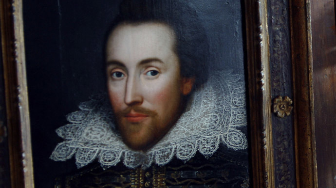 Portrait of poet William Shakespeare at Dartmouth house in London. (Reuters/Luke MacGregor)