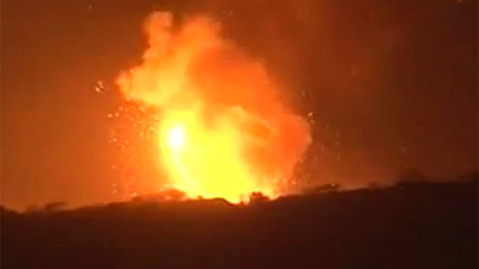 Heavy blasts outside Yemen's capital, attack on Scud missile storage feared (VIDEO)