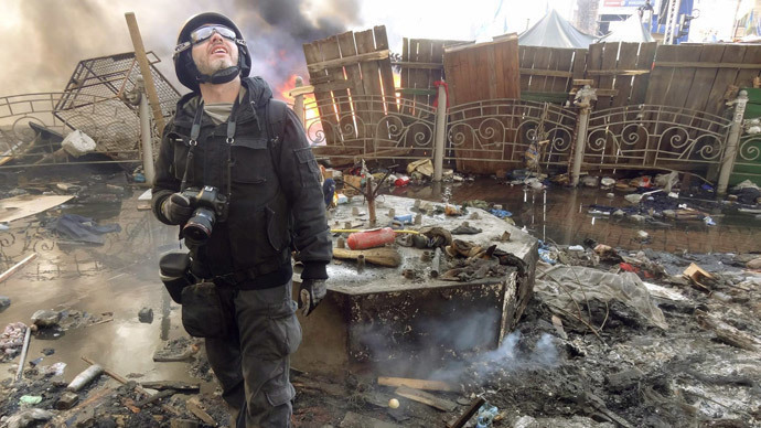 Andrey Stenin, photographer for Rossiya Segodnya, confirmed dead August 27, near Donetsk, Ukraine (Image by RIA Novosti)