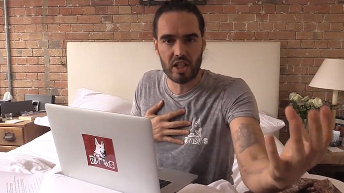 ​Russell Brand blames 'mental illness plague' for Germanwings crash