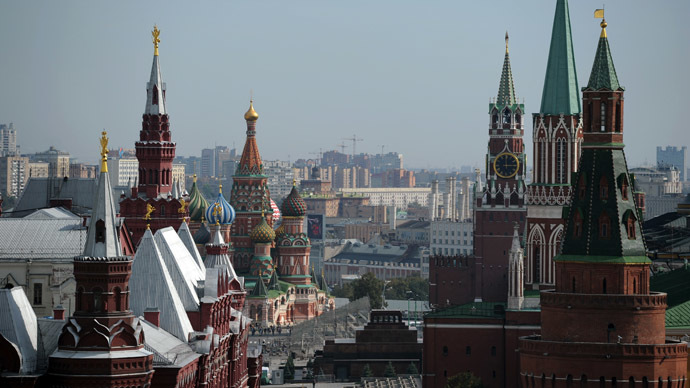 View of Red Square from the roof of the Ritz-Carlton Hotel, Moscow. (RIA Novosti/Alexey Filippov)
