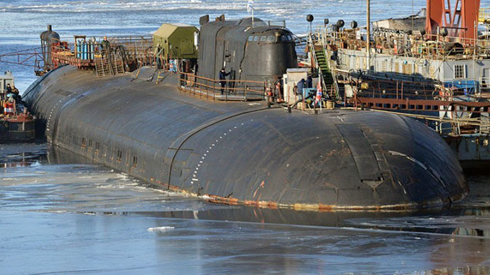 nuclear submarine catches fire at russian shipyard � rt news