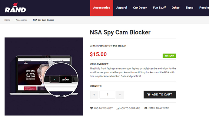 Rand awareness: Sen. Paul sells presidential campaign merchandise featuring anti-NSA items