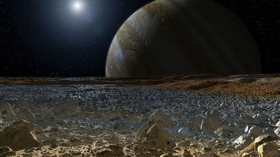 Simulated View from Europa's Surface (Artist's Concept) (Image credit: NASA/JPL-Caltech)