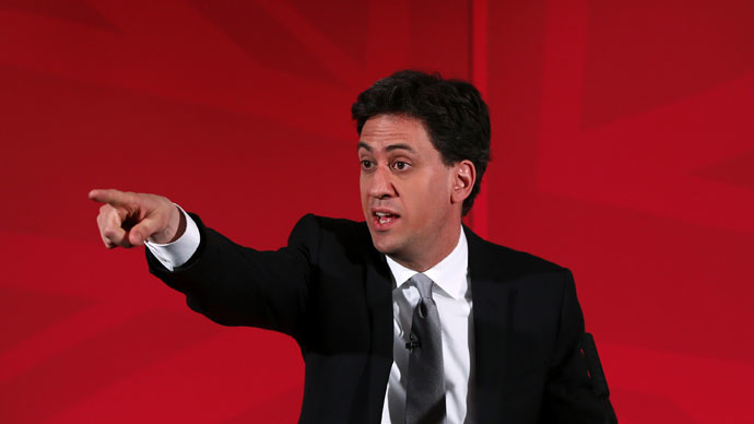 Britain's opposition Labour Party leader Ed Miliband (Reuters/Stefan Wermuth)