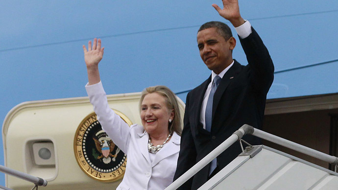 U.S. President Barack Obama and U.S. Secretary of State Hillary Clinton. (Reuters/Jason Reed)
