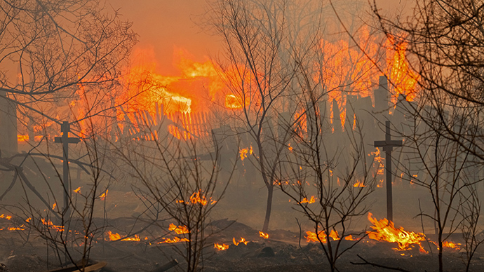 15 dead as grassland fires destroy about 1,000 houses in Siberia