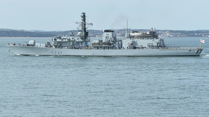British Royal Navy frigate HMS Westminster (Reuters/Toby Melville)