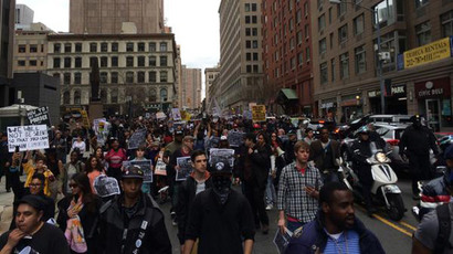 #ShutDownA14: Protesters against police brutality barricade Brooklyn Bridge