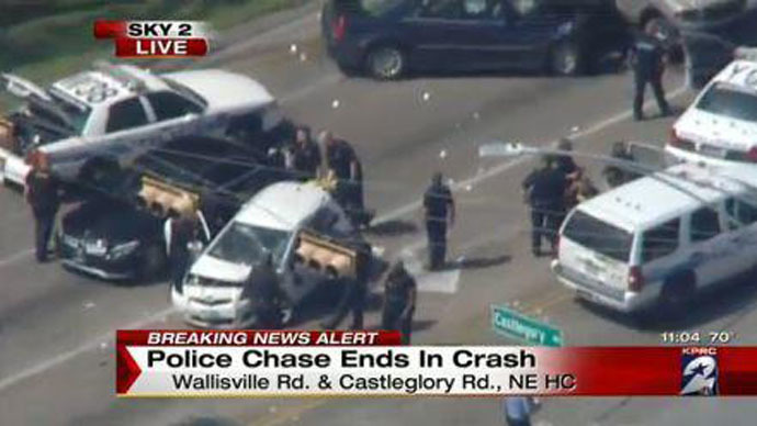 Texas police chase ends with fatal shooting (VIDEO)