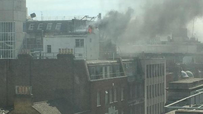 Huge fire breaks out near BBC, covers central London in 'thick black smoke'