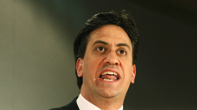 Britain's opposition Labour Party leader Ed Miliband. (Reuters/Russell Cheyne)