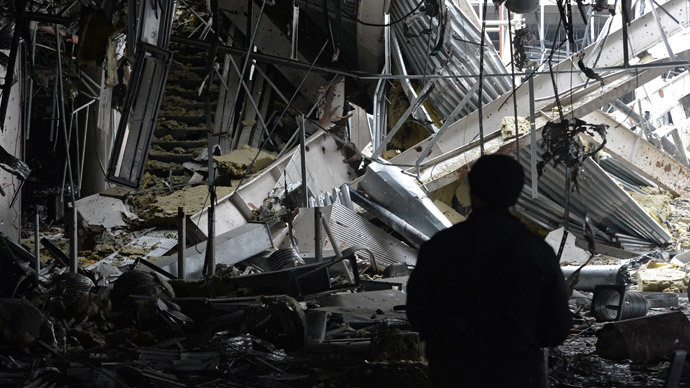 The remains of the Donetsk airport. (RIA Novosti / Mikhail Voskresenskiy)
