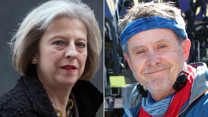 Maidenhead MP Theresa May; Independent candidate Ian Taplin