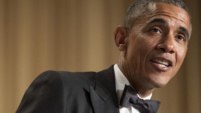 U.S. President Barack Obama at the 2015 White House Correspondents' Association Dinner in Washington April 25, 2015. (Reuters / Joshua Roberts)