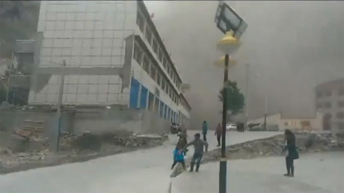 Avalanche of dust: Survivor captures moment Nepal's 7.8 quake hits Tibet (VIDEO)
