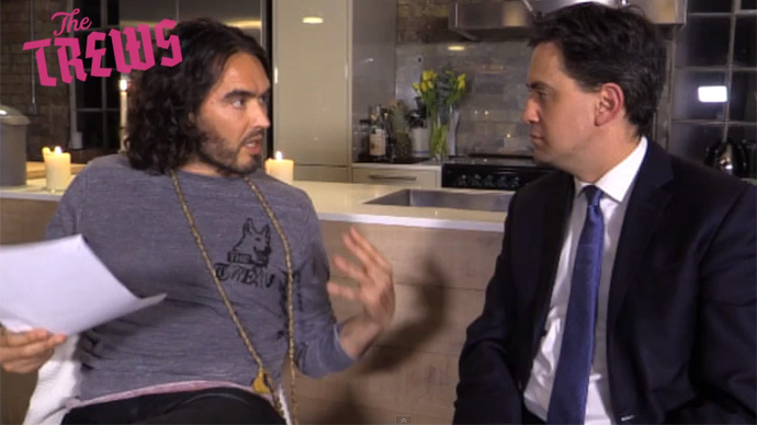 Screenshot from youtube video by user Russell Brand