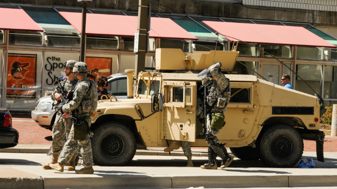 National Guard in Baltimore: Armored vehicles, military gear (PHOTOS, VIDEO)