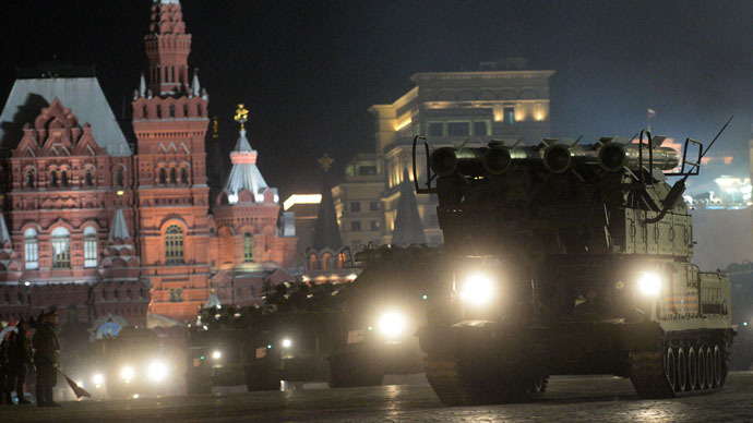 Russia's cutting-edge military hardware parades through Moscow for V-Day rehearsal