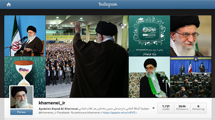 Screenshot from instagram.com/khamenei_ir