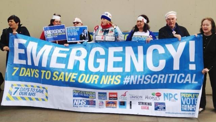 '7 days to save our NHS!' Health workers stage national protest against cuts