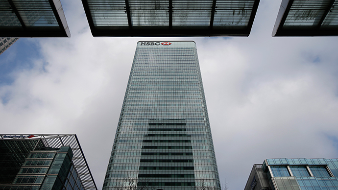 The HSBC headquarters is seen in the Canary Wharf financial district in east London. (Reuters / Peter Nicholls)
