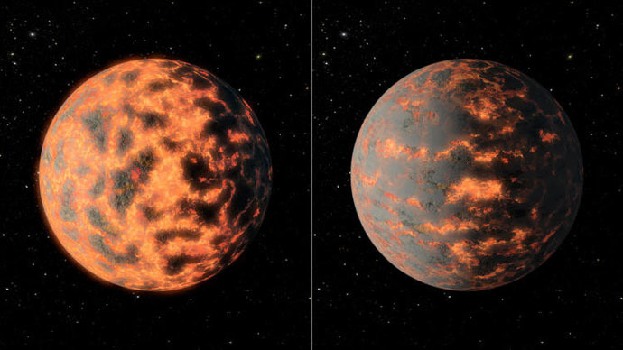 Volcanoes may cause drastic temperature changes on distant super-Earth