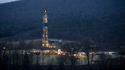 A natural gas well is drilled near Canton, in Bradford County, Pennsylvania (Reuters/Les Stone)