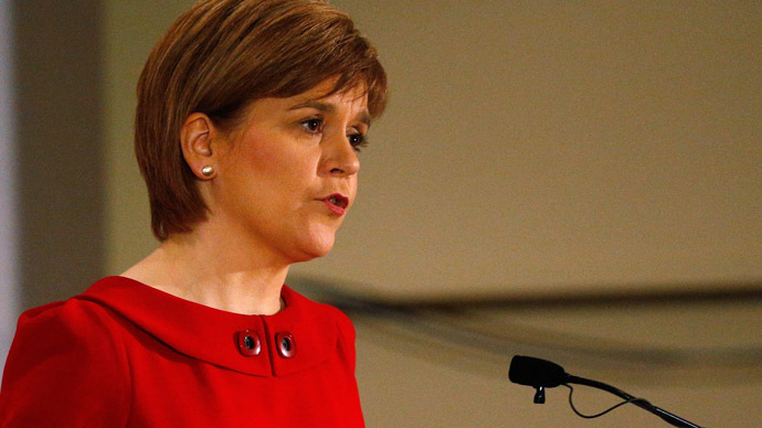 Scottish National Party (SNP) leader Nicola Sturgeon. (Reuters/Russell Cheyne)