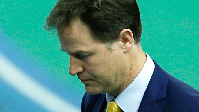 Britain's Liberal Democrat leader Nick Clegg (Reuters/Andrew Yates)
