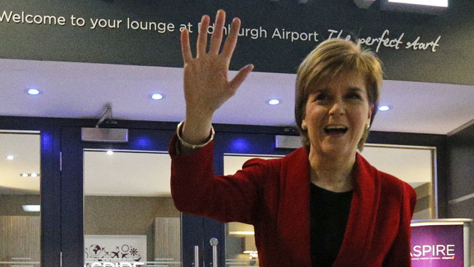 Nicola Sturgeon, leader of the Scottish National Party. (Reuters/Russell Cheyne)