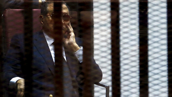 Ex-Egyptian President Mubarak, sons sentenced to 3 yrs in prison for corruption