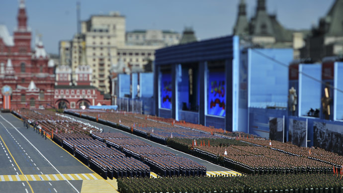 Russian servicemen march during the Victory Day parade at Red Square in Moscow, Russia, May 9, 2015. (Reuters/Host Photo Agency/RIA Novosti)