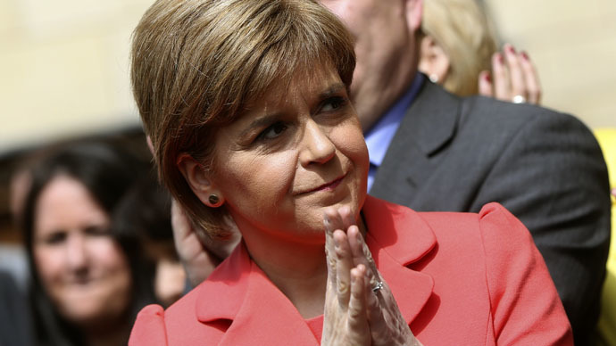 Scotland's First Minister and Scottish National Party leader, Nicola Sturgeon. (Reuters/Neil Hall)