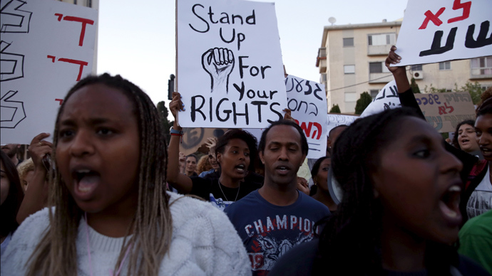 Ethiopian Jews march in anti-racism protest in Haifa