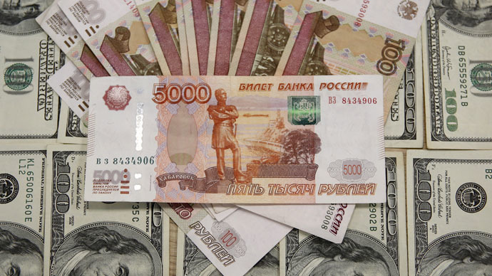 Russian ruble hits 18-wk high