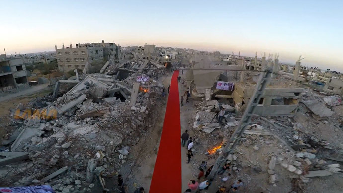 ​'Like spilled blood': 1st ever Gaza film festival rolls out red carpet among ruins