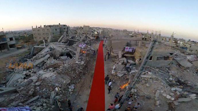 'Like spilled blood': 1st ever Gaza film festival rolls out red carpet among ruins