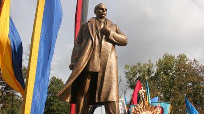 The monument to Stepan Bandera in Lviv. (RIA Novosti/Miroslav Luzetsky)