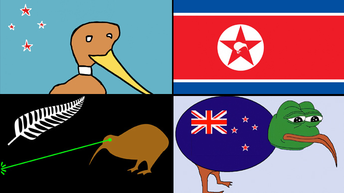 Designs of alternative New Zealand flags submitted to govt.nz