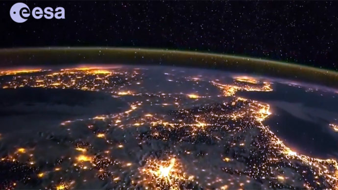 ​Breathtaking timelapse video shows nightlight Earth from space