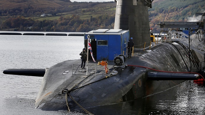 HMS Victorious is seen berthed at the Clyde Naval Base in Scotland (Reuters / Danny Lawson)
