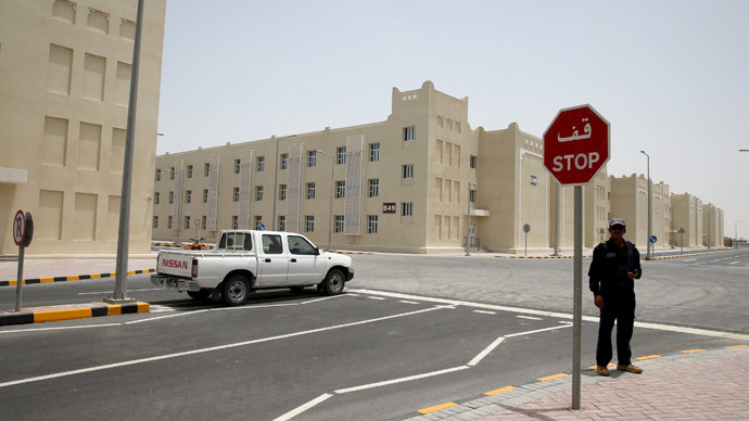The new labor city in the Sanaya Industrial Area in Doha is seen during a government-guided tour, May 3, 2015.(Reuters / Stringer)