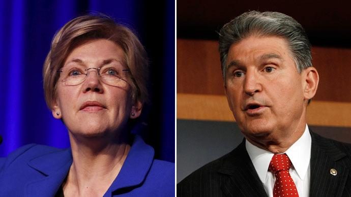 U.S. Senators Elizabeth Warren (D-MA) and Joe Manchin (D-W.VA) (Reuters)