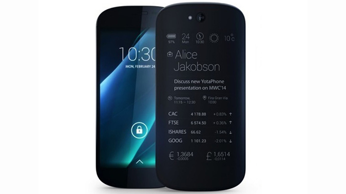 Yotaphone 2 (Image from yotaphone.com)